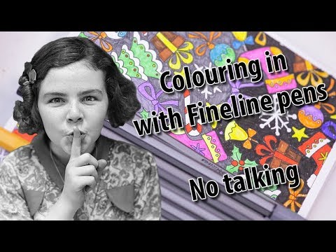 Colouring in with Fineline pens, ASMR, no talking