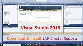 How to Download and Install Crystal Reports for Visual Studio 2019