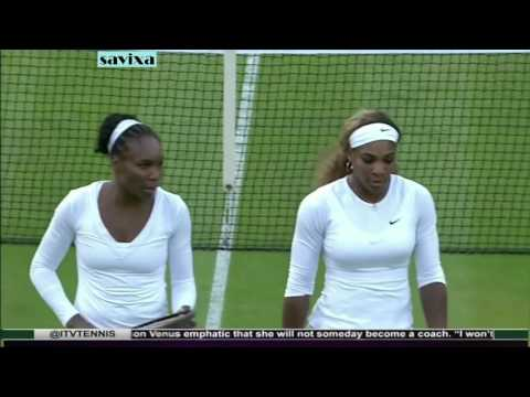 Serena and Venus Williams most entertaining points in doubles