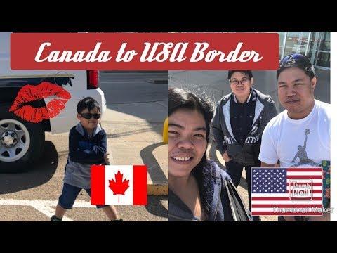 USA Montana Border Crossing