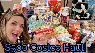 $500 Costco Haul! Restocking after my pantry challenge!