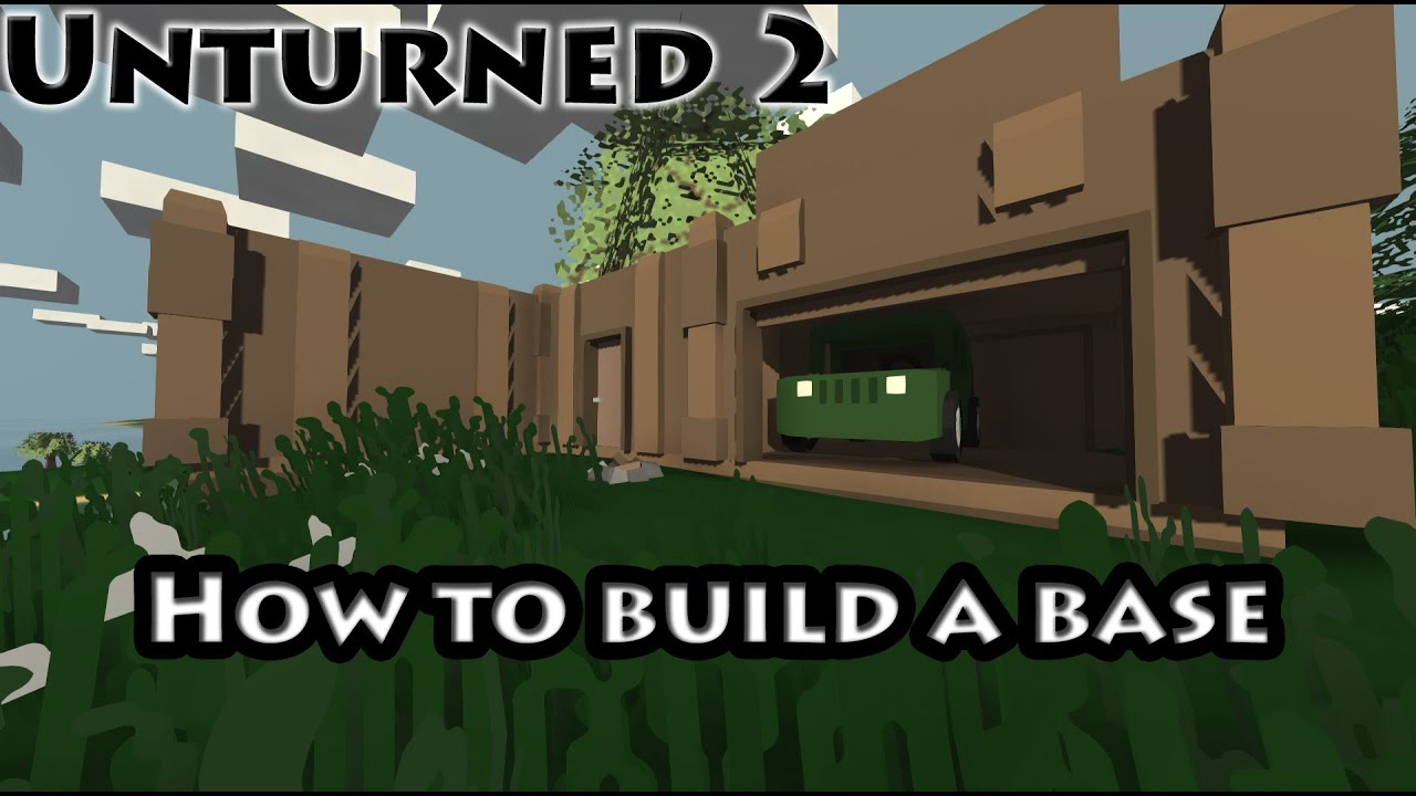 unturned how to build a train base