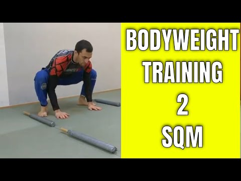 Bodyweight training on 2 squared meters!