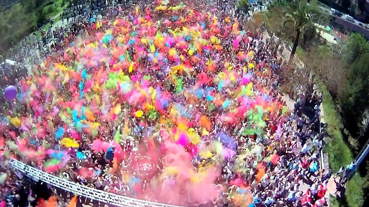 Holi festival drone [8 sec Preview]  YouTube