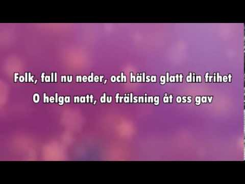 O Helga Natt (karaoke - lyrics)