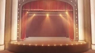 Театральный занавес: футаж для монтажа hd