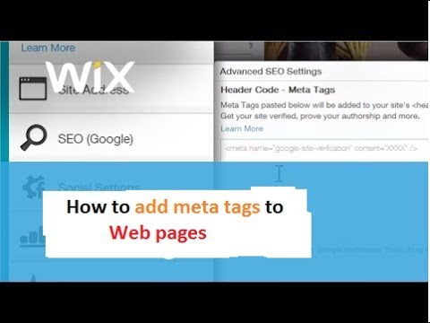 How to add Meta tags in WIX