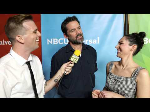 Billy Campbell and Kyra Zagorsky from Helix @ NBC Red Carpet   AfterBuzz TV Interview
