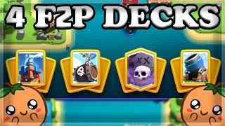 Top Free to Play Decks in Clash Royale🍊