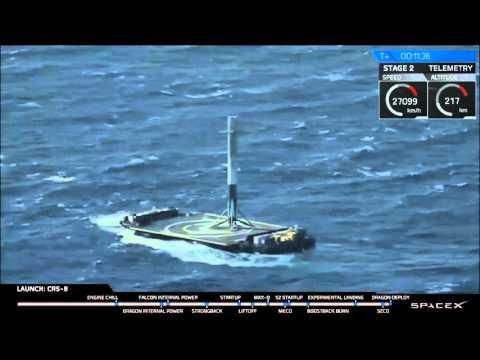 spacex circling autonomous landing platform