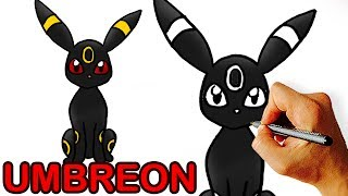 Very Easy! How to Draw UMBREON from POKEMON for Kids.
