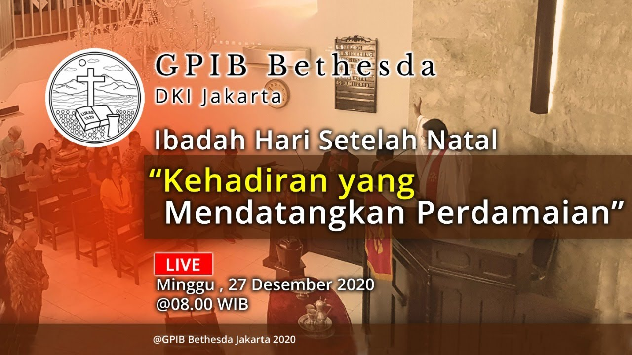 Ibadah Hari Minggu Setelah Natal (27 Desember 2020)