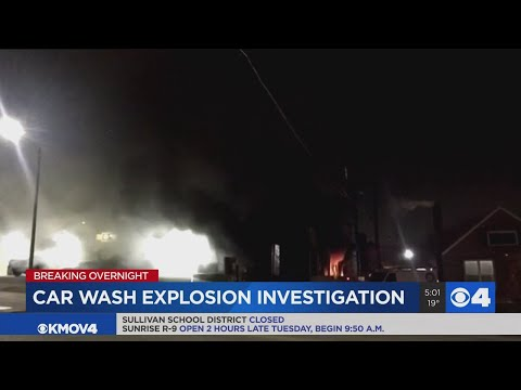 South City Car Wash Damaged By Overnight Explosion, Fire