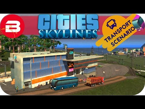 Cities Skylines Gameplay - STARTING MEGA TRAIN NETWORK (Cities: Skylines TRANSPORT Scenario) #2