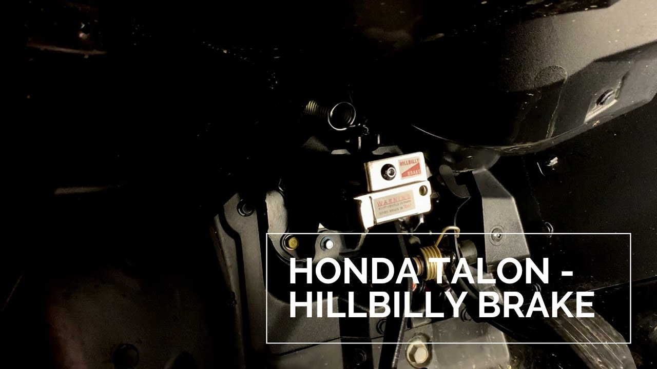 Honda Talon - Hillbilly Brake Install/Overview