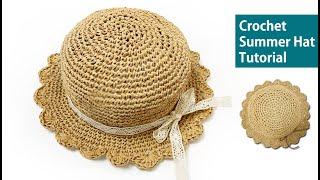 [도안패턴]코바늘 여름모자 子供夏帽子 Crochet S…