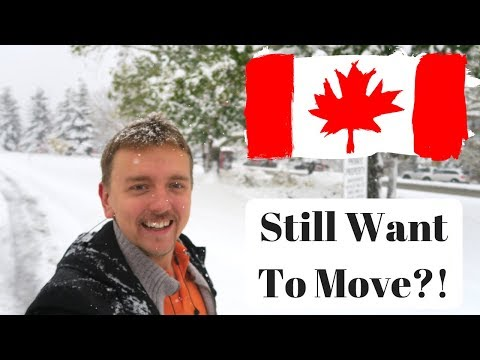 Do You Still Want To Move?! Insane Snow in Calgary, Canada