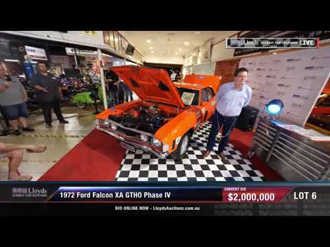 Ford XA Falcon GTHO Phase IV Sells at Auction for Record $2 Million Dollars | 20 Oct. 2018