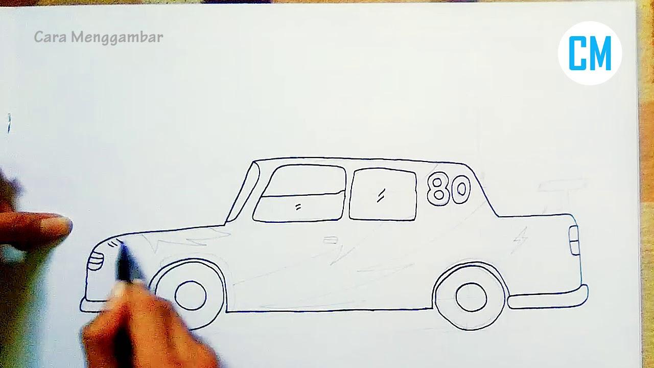 Cara Menggambar Mobil Balap Dengan Mudah Model Klasik Youtube