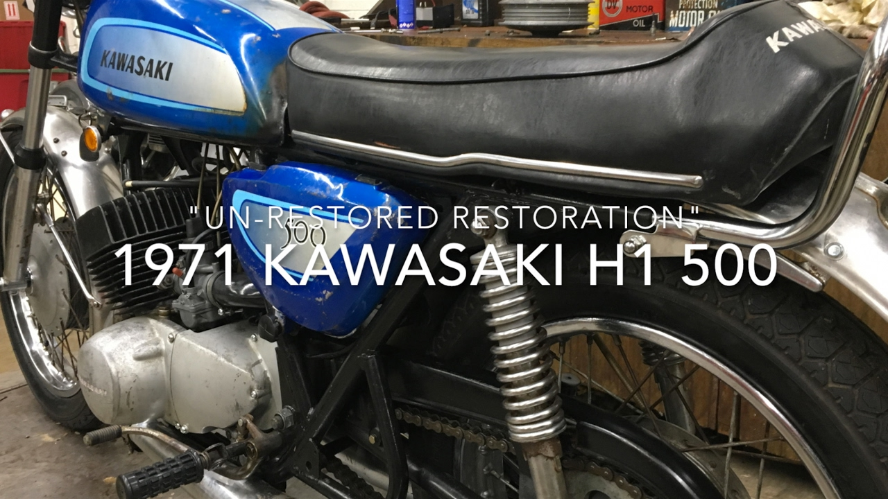 71 Kawasaki H1 500 Restored Un-restored - YouTube