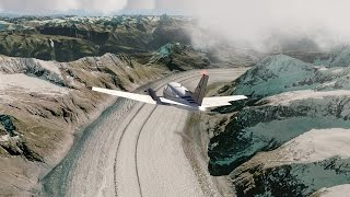 [Aerofly FS2 Beta] King Air C90 over the Alps to SION