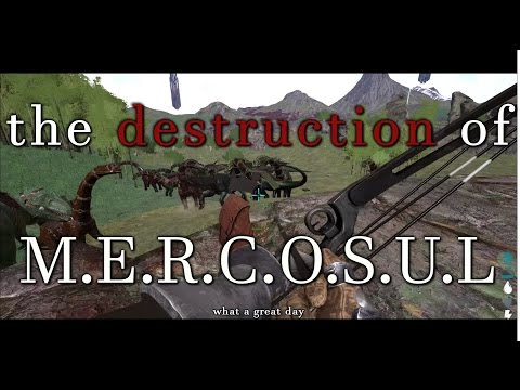 The Destruction of Mercosul | 300+ Players | Ark Official Server 35