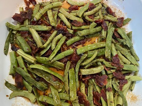 bacon smothered green beans