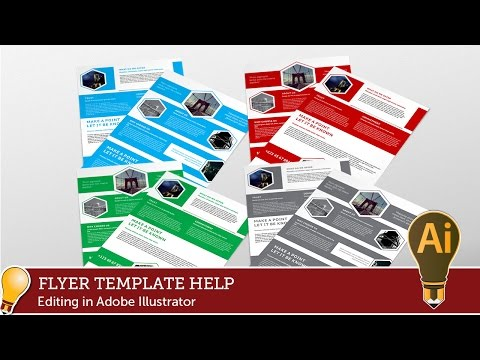 Corporate Hive Flyer Template EDITING WITH ADOBE ILLUSTRATOR