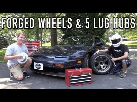 The 240SX Gets Forged Wheels & a 5-Lug Conversion!