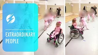 Disabled Toddler Aces Ballet Class Using Wheelchair