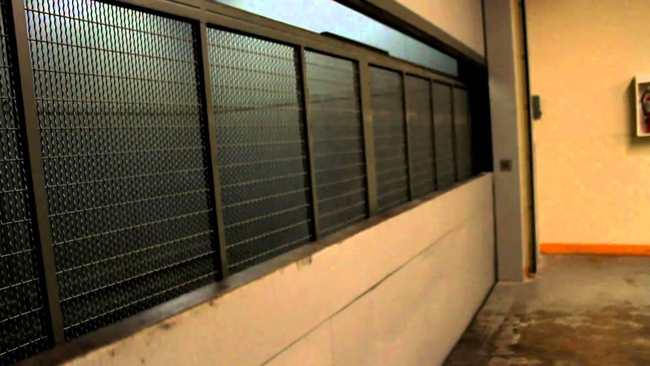 huge otis traction freight elevator at metrotown mall