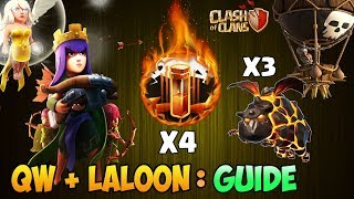 Queen Walk + Lavaloon   Town Hall 9 (TH9) : 3 Star War Attack Strategy - 2018   Clash of Clans