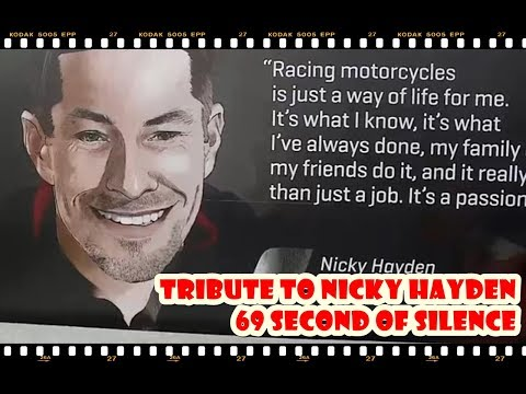Tribute to Nicky Hayden With 69 Seconds of Silence