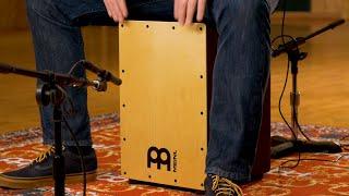 MEINL Percussion MCAJ100BK-MA+ Headliner Snare Cajon