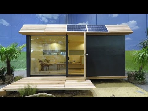 Off grid style the Tiny Solar-powered Wave Eco Cabin