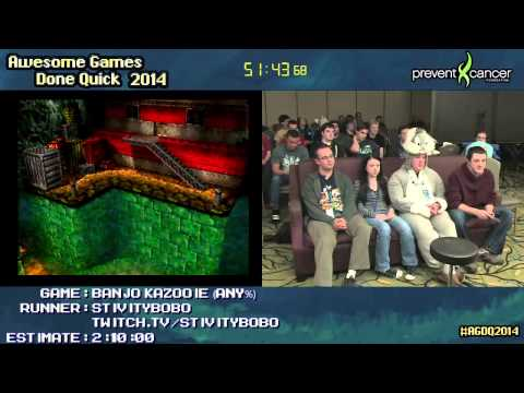 Banjo Kazooie :: SPEED RUN (1:34:54) by Stivitybobo [N64] #AGDQ 2014