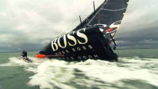 Alex Thomson doet de Keel Walk
