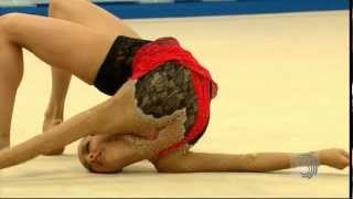 Evgeniya KANAEVA (RUS), 2012 European Championships (Clubs)(UEG Official -- European Rhythmic Championships, Individual All-Around Final. 3rd European All-Around title for the Magic Russian (118.150). Top score with ..., 2012-06-19T13:29:19.000Z)