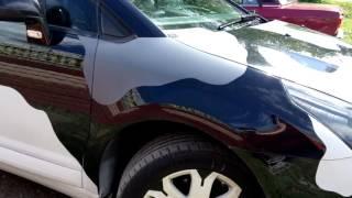 Обзор машины Citroën c4 камуфляж от Rubber paint. Диски Montana