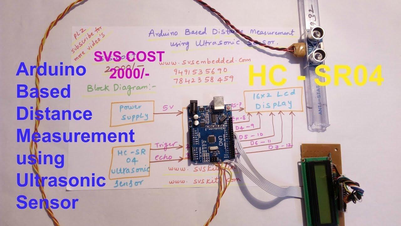 Arduino Based Distance Measurement Using Ultrasonic Sensor Youtube