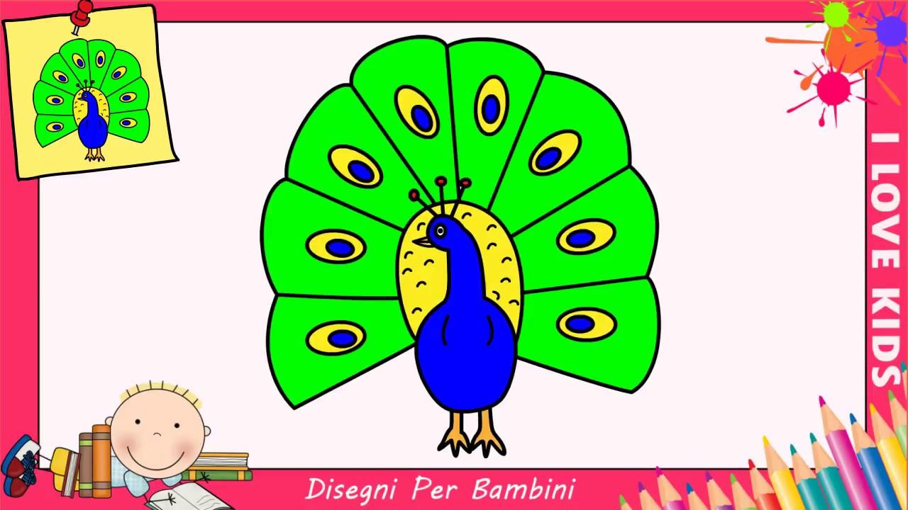 Disegni di pavoni facili per bambini come disegnare un for Disegni di natale facili per bambini