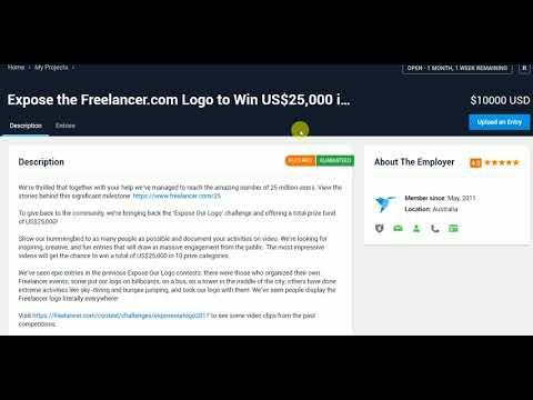 win $25000 Freelancer.com Contest