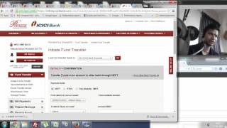 8 (RTGS)How to do Funds Transfer using RTGS (Using ICICI Netbanking) (Live )
