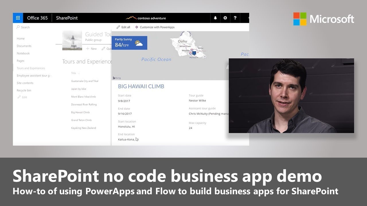 Zero code business process apps in SharePoint with PowerApps and Microsoft Flow