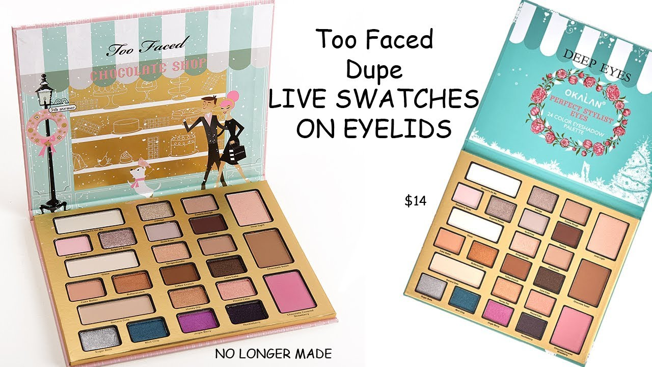 Too Faced Christmas In New York Dupe Live Swatches On Eyelids