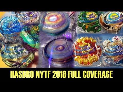 HASBRO NYTF 2018 FULL COVERAGE OLD GEN BEYS + DIGITAL CONTROL TOPS AND MORE!!