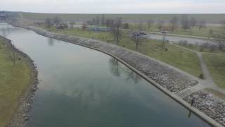 Alum Creek Damn Drone Fly-By Jan 15, 2017
