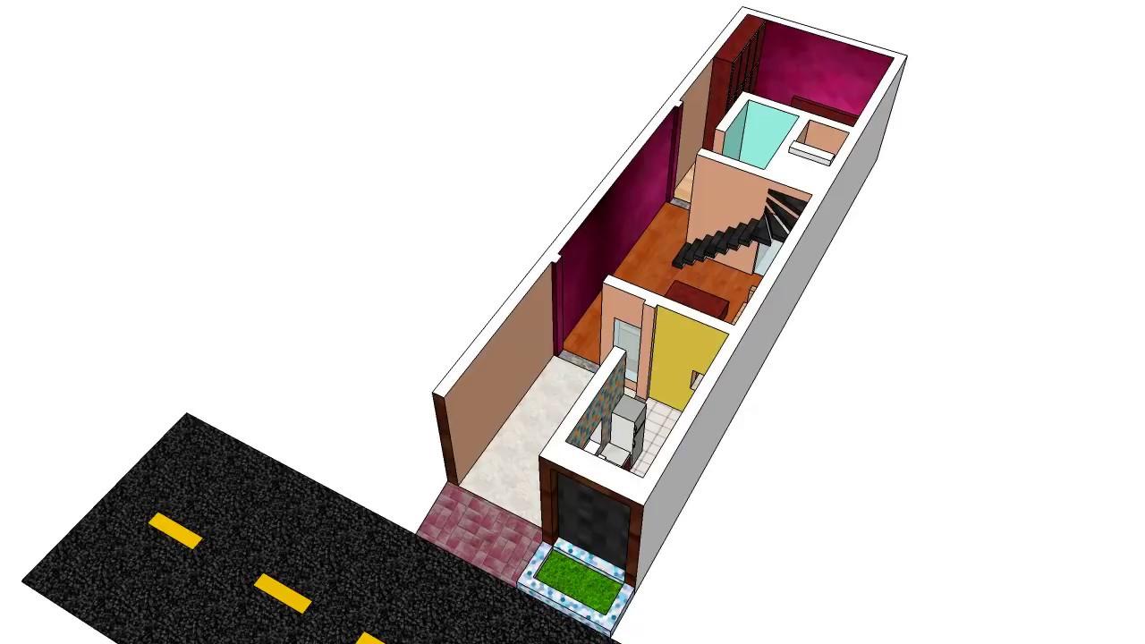 3d house floor plan dg khan pakistan 14 39 6 x 47 for 10x20 tiny house floor plans