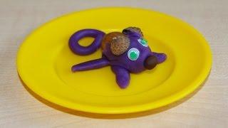 Делаем мышку из желудя и пластилина. Поделки для детского сада своими руками.