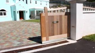 Wooden Sliding Gate - Aluminum Track
